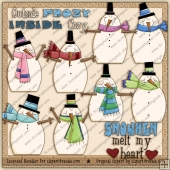 RESALE ART WORK - Snowman Melt My Heart Clipart Collection