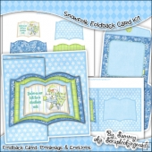 Snowfolk Open Book Foldback Card & Envelope