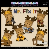 Marvin The Moose Mr Fix It ClipArt Collection