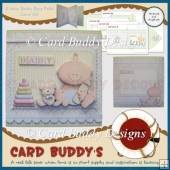 A New Baby Boy Fold Card Kit
