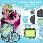 Candles N Cakes 3D Pop Up Easel Card & Presentation Box