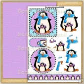 Winter Penguins 2 PDF Decoupage Download