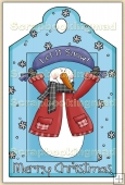Christmas Snowman Decorative Tag - REF_T07