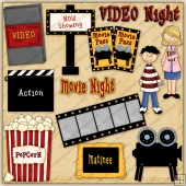 Movie Time ClipArt Graphic Collection
