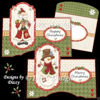 Snowman and Santa OTT Cards