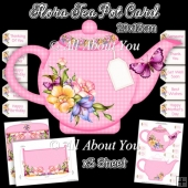 Flora Tea Pot Card