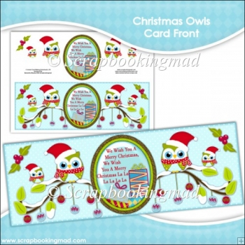 Christmas Owls Card Front