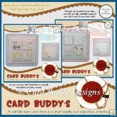 Baby Boy & Girl Rounded Corner Fold Card Kits Twin Pack