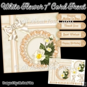 White Flower 7 Inch Card Front