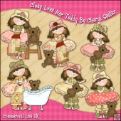 Cloey Loves Her Teddy ClipArt Graphic Collection