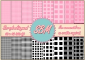 8 PNG Squares Paper Overlays 12 x 12 Designer Resources