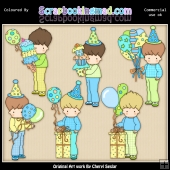 Birthday Simon ClipArt Graphic Collection