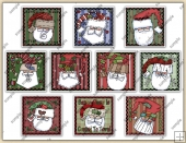 Santa Patches ClipArt Graphic Collection