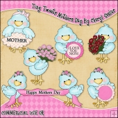 Tiny Tweets Mothers Day ClipArt Graphic Collection