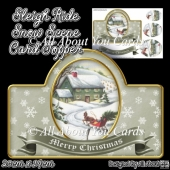 Sleigh Ride Snow Scene Card Topper
