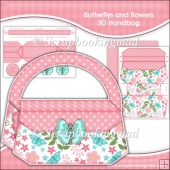 Butterflys and Flowers 3D Handbag