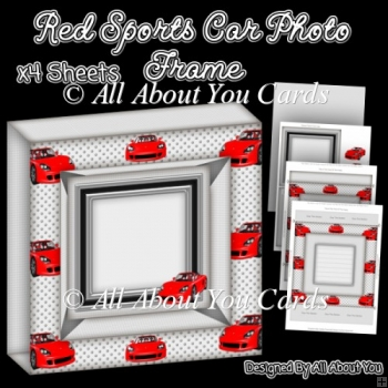 Red Sports Car Photo Frame