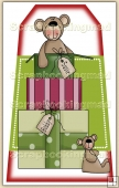 Christmouse Is Coming 2 - Gift Bear 9 Decorative Tag