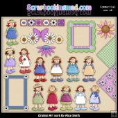 Little Girls Clipart Graphics Download