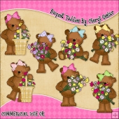 Bouquet Teddies ClipArt Graphic Collection