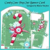 Candy Cane Pop Out Banner Card Kit