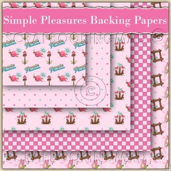 5 Simple Pleasures Backing Papers Download (C136)