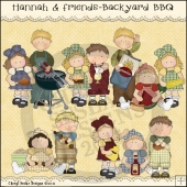Hannah and Friends Backyard BBQ ClipArt Graphic Collection