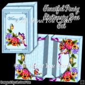 Fanciful Pansy Stationery Box Set