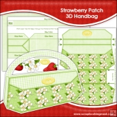 Strawberry Patch 3D Handbag