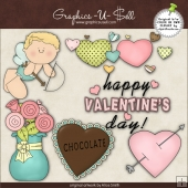 Valentine Cupid 1 ClipArt Graphic Collection