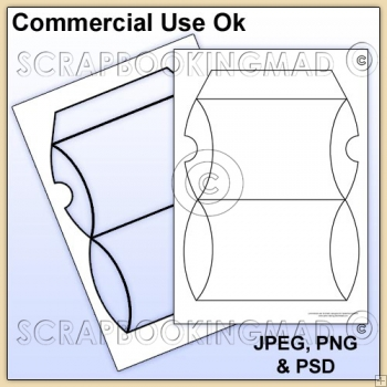 Pillow Box Template Commercial Use