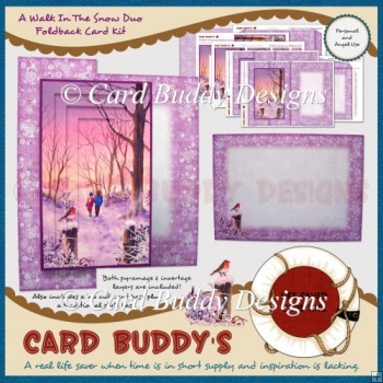 A Walk In the Snow Duo Foldback Card Kit