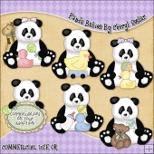 Panda Babies ClipArt Graphic Collection