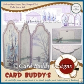 Untrodden Snow Tag Shaped Tri Fold Card Kit