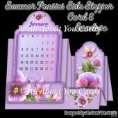 Summer Pansies Side Stepper Calendar Card & Envelope
