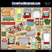 Kiss The Cook ClipArt Collection