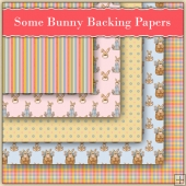 5 Some Bunny Backing Papers Download