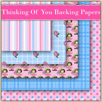 5 Thinking Of You Girl Backing Papers Download (C229)