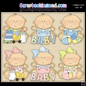 Just Babies Everyday ClipArt Graphic Collection