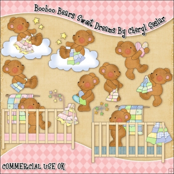 Booboo Babies Sweet Dreams ClipArt Graphic Collection