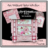 Pink Floral Mini Treasure Chest Gift Box