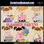 Pigtail Penny Slumber Party ClipArt Collection