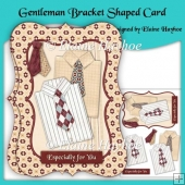 Gentlemen Bracket Shaped Card