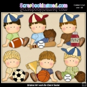 Oscar Loves Sports ClipArt Collection