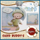Rainy Day Bear Shaped Fold Card Kit