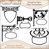 5 Hanging Signs Templates - CU OK