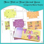 Three Trick or Treat Sleeved Boxes