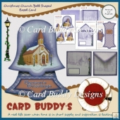 Christmas Church Bell Shaped Easel Card Kit