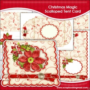 Christmas Magic Scalloped Tent Card