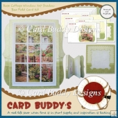 Rose Cottage Window 7x7 Shadow Box Fold Card Kit